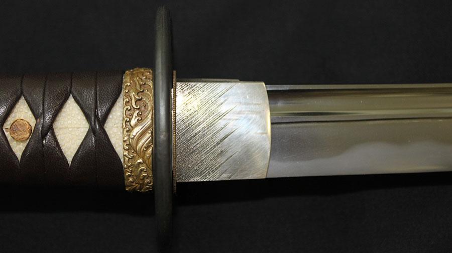 日本刀  平安城源信重古鉄作之(刀身1)