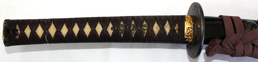 日本刀  黒蝋色塗鞘刀拵(全体2)