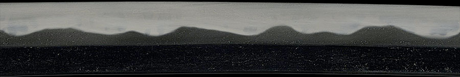 刀 備前長船住横山祐包作(富士山と重花丁子の刃の見本)