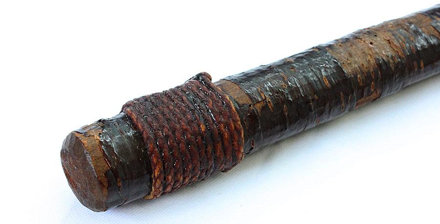 刀 藤原行長(桜の皮の仕込杖拵添)