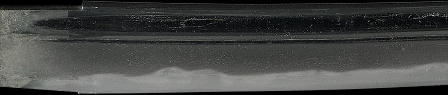 刀 備州長船忠光 文明十七年八月日・備後住正家(折り返し銘)(かいらげ鮫鞘付大小拵付)